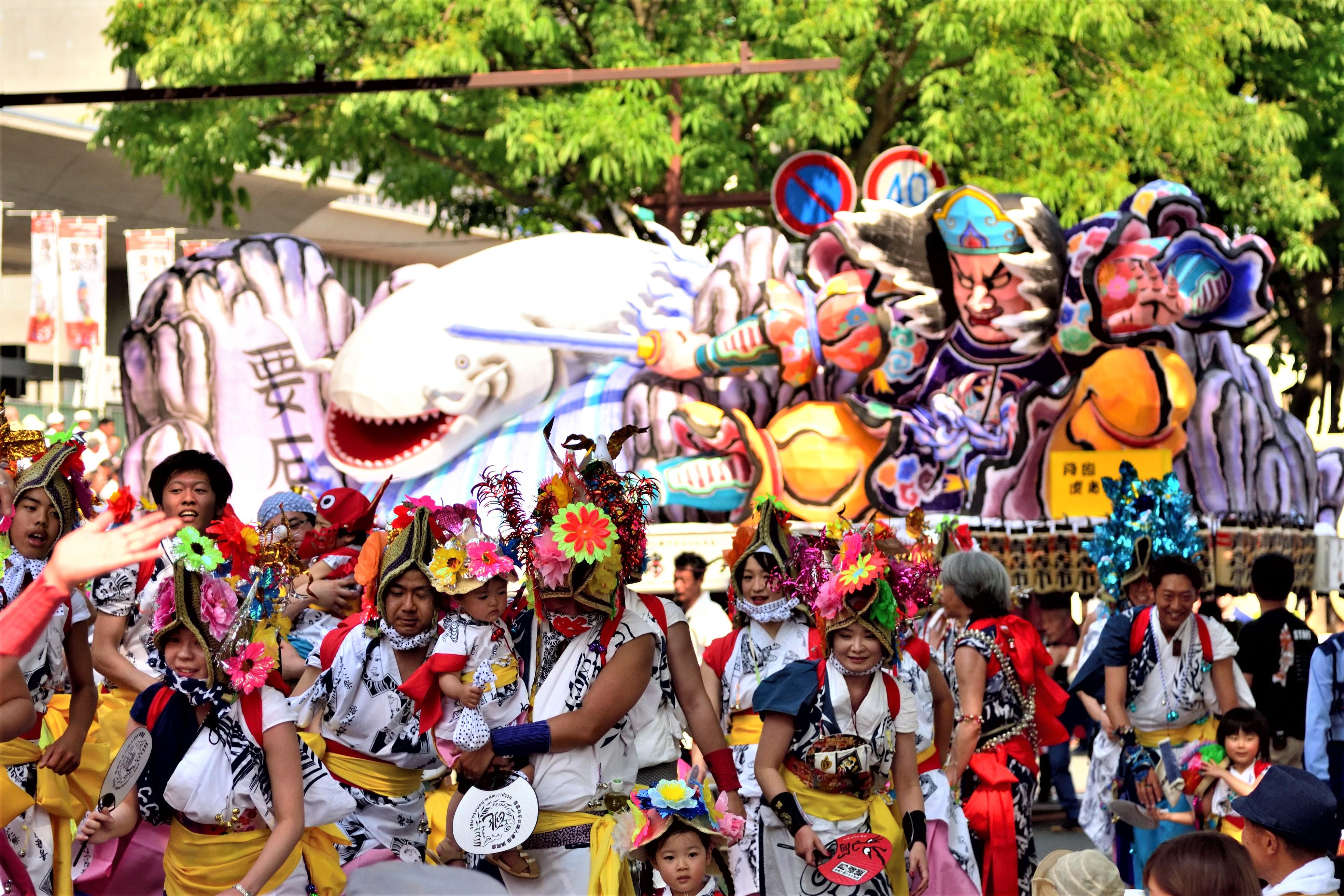 Aomori Nebuta festival in Tohoku Kizuna Matsuri